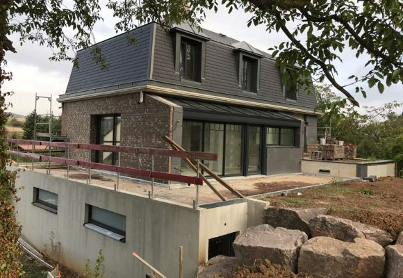 Maison individuelle tout béton à Ergersheim